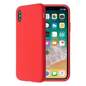 COQUE SMOOTHIE ROUGE: APPLE IPHONE X/XS