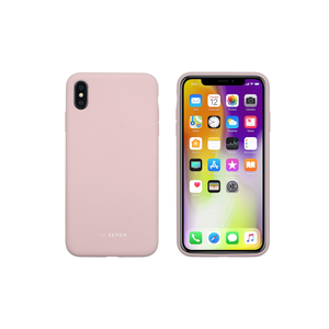 COQUE SMOOTHIE ROSE POUDREE: APPLE IPHONE XS MAX