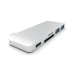 TYPE-C USB PASSTHROUGH HUB SILVER