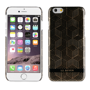 BUNDLE MIDNIGHT COQUE CUBIC + POCHETTE OR IPHONE 6/6S
