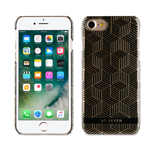 BUNDLE MIDNIGHT COQUE CUBIC + POCHETTE OR IPHONE 7/8