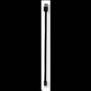 COLORS CABLE LIGHTNING MFI 1M 2.4A NOIR / METAL NOIR