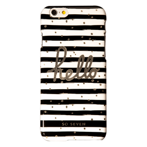 COQUE BORD DE MER NOIR: APPLE IPHONE 6/6S/7/8