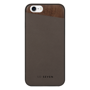 COQUE DANDY BOIS + PU TAUPE: APPLE IPHONE 6/6S/7/8