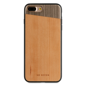COQUE SULFUROUS + BOIS OR: APPLE IPHONE 6+/6S+/7+/8+