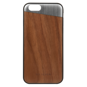 SULFUROUS COQUE METAL SILVER + BOIS APPLE IPHONE X