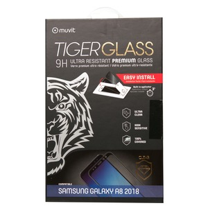 TIGER GLASS VERRE TREMPE INCURVE + APPLICATEUR SAMSUNG GALAXY A8 2018