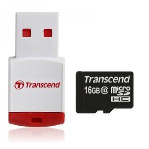 CARTE MICROSDHC CLASSE 10 16GB + LECTEUR USB P3