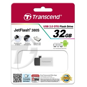 CLE USB 2.0 32GO ARGENTEE OTG ANDROID TS32GJF380S