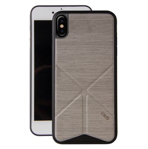 TRANSFORMA COQUE STAND GRIS SUPPORT MAGNETIQUE POUR IPHONE X XS