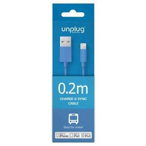 CABLE USB/LIGHTNING 0.2M BLEU