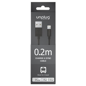 CABLE USB/LIGHTNING 0.2M NOIR