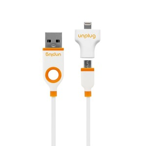 PACK CABLE+ADAPTATEUR USB/LIGHTNING/MICRO-USB BLANC