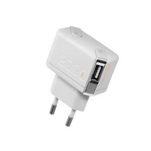 CHARGEUR SECTEUR 2USB +CABLE 2A USB/LIGHTNING BLANC