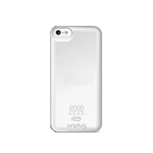 COQUE CHARGEUR AIMANTEE 2000MAH BLANC APPLE: IPHONE 5