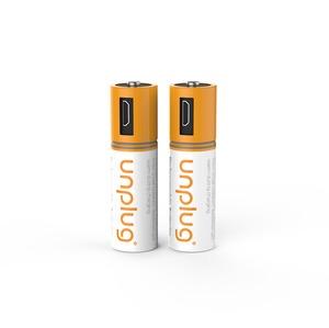 PILES RECHARGEABLES AA PACK DE 2 AVEC CABLE MICRO-USB