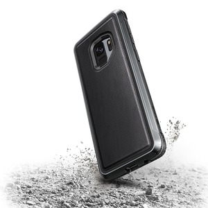 DEFENSE LUX FOR SAMSUNG GALAXY S9 - BLACK LEATHER