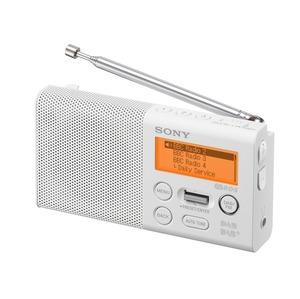RADIO PORTABLE FM + DAB BLANC