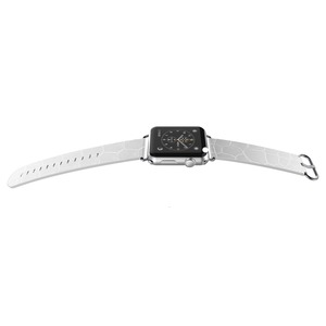 BAND LUX CROC CUIR BLANC 38MM POUR APPLE WATCH 1 2 3