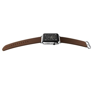 BAND LUX CUIR MARRON 38MM POUR APPLE WATCH 1 2 3