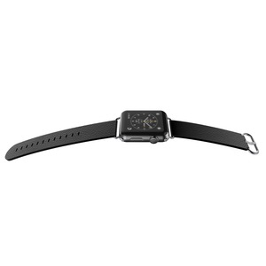 BAND LUX CUIR NOIR 42MM POUR APPLE WATCH 1 2 3