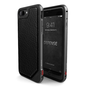 Coque Defense Lux pour iPhone 7/8 Plus - Black Leather