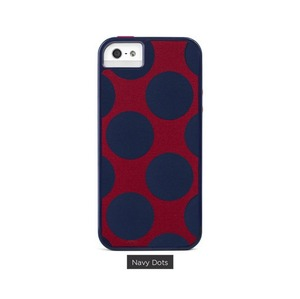 COQUE PROTECTION DASH ICON POIS BLEU MARINE IPHONE 5 5S