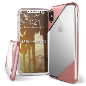 COQUE REVEL LUX CLEAR ROSE GOLD POUR IPHONE X/XS