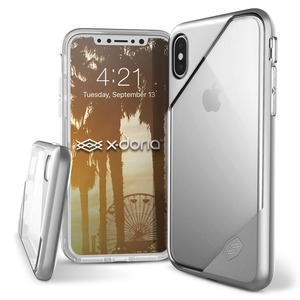 COQUE REVEL LUX CLEAR SILVER POUR IPHONE X/XS