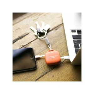 POWERBANK 500 MAH HUG BOOSTER AVEC LIGHTNING ORANGE