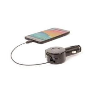 CHARGEUR VOITURE RETRACTABLE TYPE-C AVEC UN PORT USB