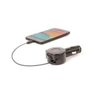 CHARGEUR VOITURE RETRACTABLE LIGHTNING AVEC UN PORT USB