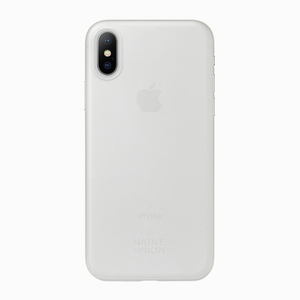 NATIVE UNION COQUE CLIC AIR TRANSPARENTE POUR IPHONE X -  EXCLU ORANGE