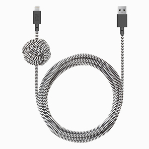 NATIVE UNION NIGHT CABLE USB-A TO USB- C ZEBRA 3M KEVLAR
