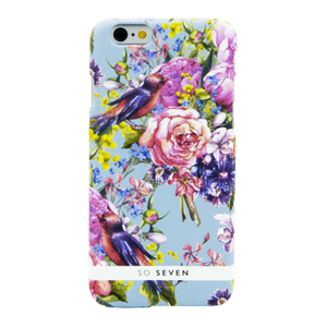 COQUE SUMMERCHIC OISEAUX FOND BLEU: APPLE IPHONE 6/6S/7/8