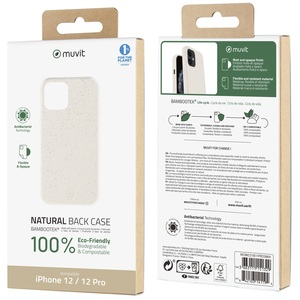 MUVIT FOR CHANGE COQUE BAMBOOTEK COTTON: APPLE IPHONE 12/12 PRO