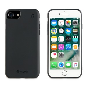MUVIT FOR CHANGE COQUE RECYCLETEK NOIRE: APPLE IPHONE SE/8/7/6s/6