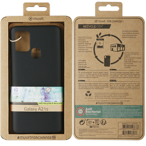 MUVIT FOR CHANGE COQUE RECYCLETEK NOIRE: SAMSUNG GALAXY A21s