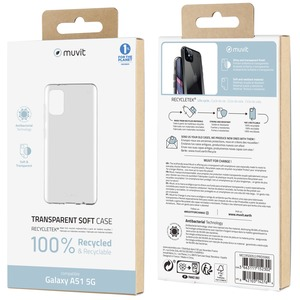 MUVIT FOR CHANGE COQUE RECYCLETEK SOUPLE TRANSPARENTE: SAMSUNG A51 5G