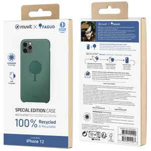 MUVIT FOR CHANGE RECYCLETEK FAGUO EUCALYPTUS : APPLE IPHONE 12 MINI