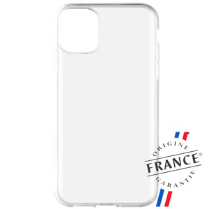 MUVIT FOR FRANCE COQUE CRYSTAL SOFT TRANSP RENFORCEE: APPLE IPHONE 11