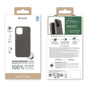 MUVIT FOR CHANGE BAMBOOTEK RENFORCEE 2M GRISE: APPLE IPHONE 12 MINI