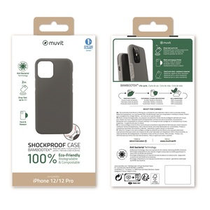 MUVIT FOR CHANGE BAMBOOTEK RENFORCEE 2M GRISE: IPHONE 12/12 PRO
