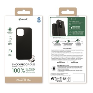 MUVIT FOR CHANGE BAMBOOTEK RENFORCEE 2M NOIRE: APPLE IPHONE 12 MINI