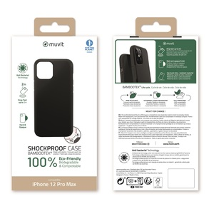 MUVIT FOR CHANGE BAMBOOTEK RENFORCEE 2M NOIRE: APPLE IPHONE 12 PRO MAX