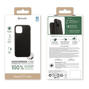 MUVIT FOR CHANGE BAMBOOTEK RENFORCEE 2M NOIRE:IPHONE 12/12 PRO
