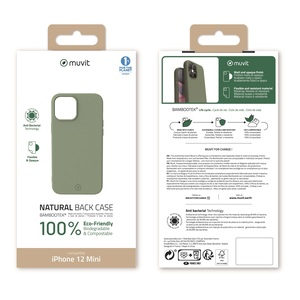 MUVIT FOR CHANGE COQUE BAMBOOTEK MOSS: APPLE IPHONE 12 MINI