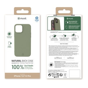 MUVIT FOR CHANGE COQUE BAMBOOTEK MOSS: APPLE IPHONE 12/12 PRO