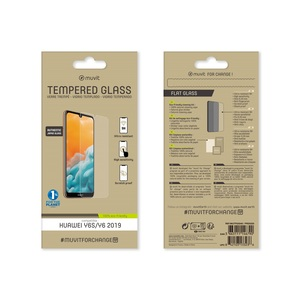 MUVIT FOR CHANGE VERRE TREMPE PLAT: HUAWEI Y6S/Y6 2019