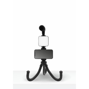 VLOGGING KIT 4 EN 1 MICRO + TREPIED + SUPPORT + LED